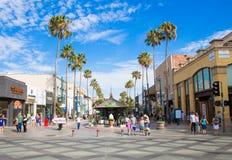 Third Street Promenade in Santa Monica California. Promenade shopping area in Santa Monica, Califronia USA Royalty Free Stock Image