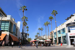 The Third Street Promenade of Santa Monica Royalty Free Stock Photos