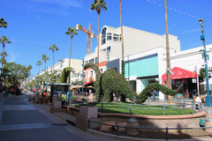 The Third Street Promenade of Santa Monica Stock Image