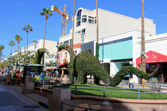The Third Street Promenade of Santa Monica Stock Images