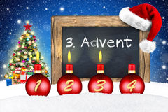 Third sunday of advent Royalty Free Stock Photography