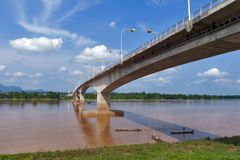 Third Thai–Lao Friendship Bridge over Mekong River connecting Thailand with Laos. The Third Thai–Lao Friendship Bridge over the Mekong River connecting Stock Photography
