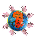 Third world aid...give a helping hand! Stock Photos