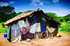 Third World House. A small village house in Nicaragua Stock Photography