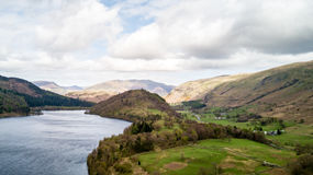 Thirlmere and Great How, Lake District, England Stock Image