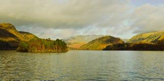 Thirlmere Reservoir. Deergarth  how island Stock Photo