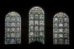 Thiron-Gardais, stained glass Stock Photo