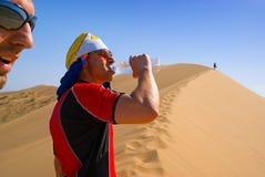 Thirst in sand desert Stock Photo