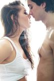Thirst for tenderness. Young men and women looking for tenderness and closeness stock photography