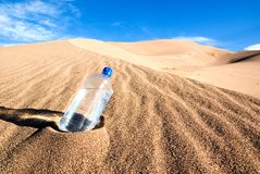 Thirsty. Find a cool drink in the middle of a desert Stock Photos