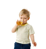 Thirsty Boy Royalty Free Stock Photos