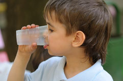 Thirsty Boy Stock Photos
