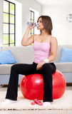Thirsty fitness woman Stock Image