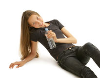 Thirsty girl Royalty Free Stock Images