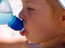 Thirsty girl Royalty Free Stock Image