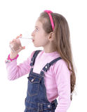 Thirsty Girl Drinking Water Royalty Free Stock Image