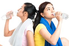 Thirsty girls Royalty Free Stock Photography