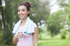 Thirsty jogger Stock Photos