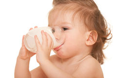 Thirsty kid Stock Images