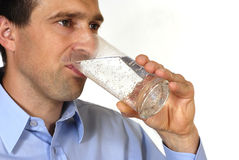 Thirsty man Royalty Free Stock Photography