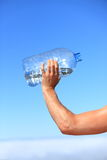 Thirsty man drinking water royalty free stock photo