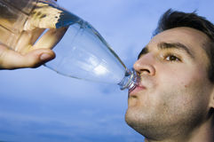 Thirsty man Royalty Free Stock Image