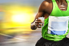 Thirsty runner royalty free stock photo