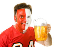 Thirsty Sports Fan Royalty Free Stock Photography