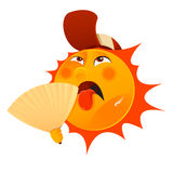 Thirsty sun stock illustration