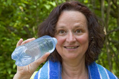 Thirsty woman Royalty Free Stock Image