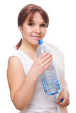 Thirsty Woman Royalty Free Stock Photos