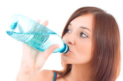 Thirsty young women stock photo