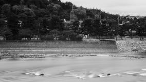 Thirteen storied stone pagoda, Uji Royalty Free Stock Photos