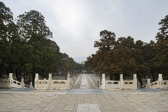 Thirteen Tombs of Ming Dynasty. The Ming tombs are a collection of mausoleums built by the emperors of the Ming dynasty of China Royalty Free Stock Photos
