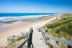 Thirteenth Beach in Barwon Heads. The idyllic Thirteenth Beach near Barwon Heads on a hot summer`s day in Victoria, Australia royalty free stock images