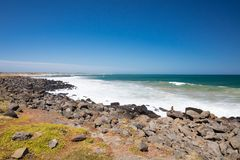 Thirteenth Beach in Barwon Heads. The idyllic Thirteenth Beach near Barwon Heads on a hot summer`s day in Victoria, Australia royalty free stock photography