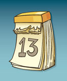 Thirteenth on calendar Stock Image