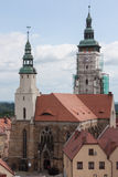 Thirteenth-century church in Zlotoryja. Zlotoryja, Poland - June 16, 2015: Region: Lower Silesia. View of the Church of the Nativity of the Blessed Virgin Mary Royalty Free Stock Images