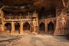 耆那教的thirthankaras雕象  库存照片
