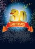 Thirtieth anniversary Stock Photos