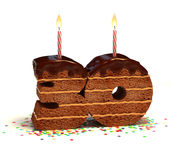 Thirtieth birthday or anniversary cake Stock Image