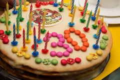 Thirtieth birthday cupcake Royalty Free Stock Photography