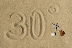 Thirty degrees - summertime Stock Image