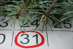 The thirty first of a calendar Stock Images