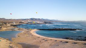 thirty-first international kite festival, El Cotillo fuerteventura canary islands 2018-11-10 stock photography