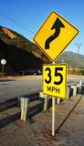 Thirty five mile an hour sign Royalty Free Stock Photos
