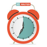 Thirty Five Minutes Stop Watch - Alarm Clock. Vector Illustration Vector Illustration