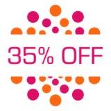 Thirty Five Percent Off Pink Orange Dots Circular Royalty Free Stock Image