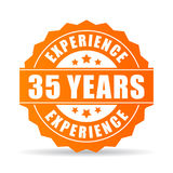 Thirty-five years experience vector icon Royalty Free Stock Image