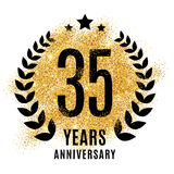 Thirty five years golden anniversary Royalty Free Stock Photo